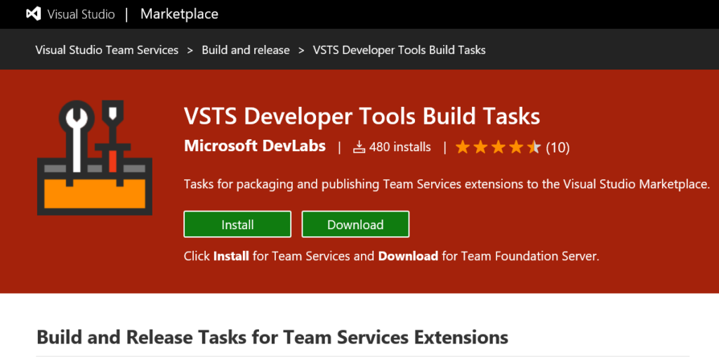 Publishing TFS/VSTS extensions with Visual Studio Team Build